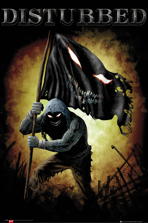 Disturbed - face flag Affiche