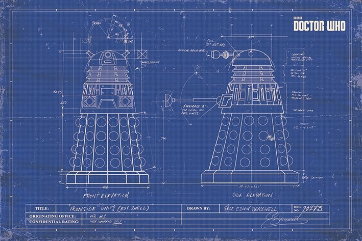 Doctor Who - Dalek Blueprint Affiche