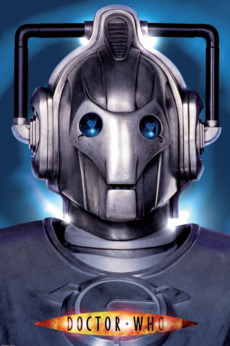 DR. WHO - cyberman face Affiche