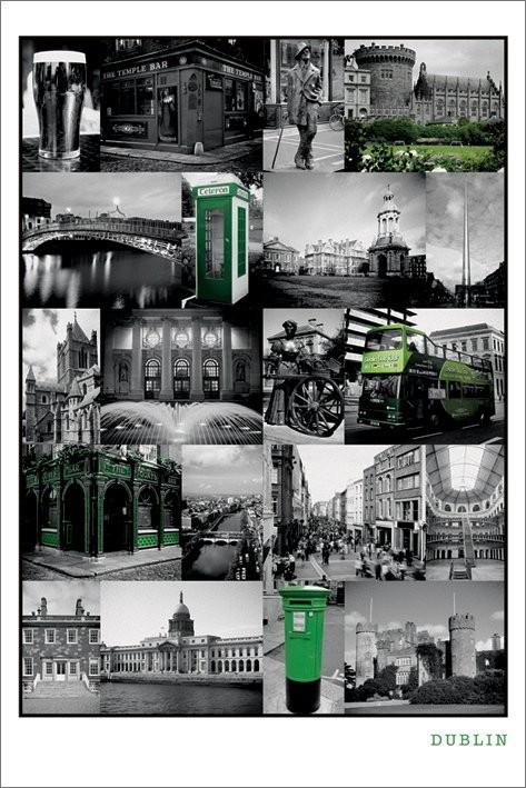 Dublin - collage Affiche
