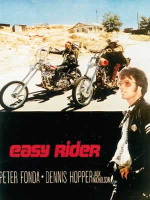 EASY RIDER - riding motorbikes / colour Affiche