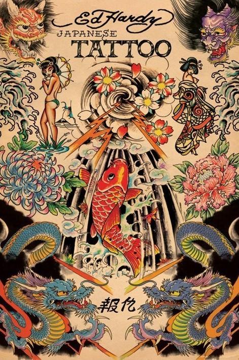 Ed Hardy - japanese tattoo Affiche