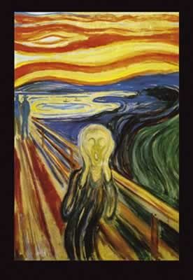 Edvard Munch - Scream  Affiche