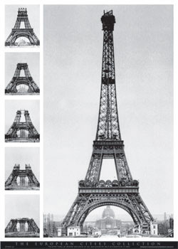 Eiffel tower - european Affiche