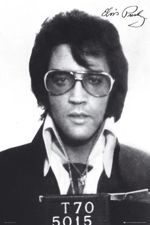 Elvis Presley - mugshot Affiche