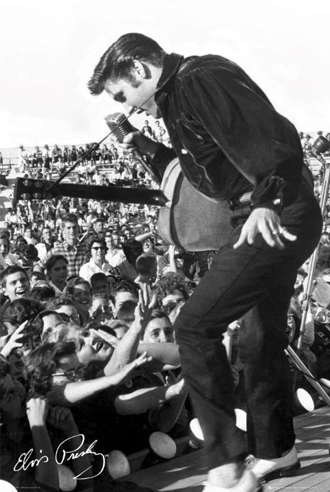 Elvis Presley - stage Affiche
