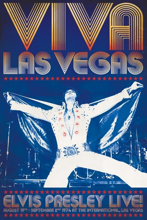 Elvis Presley - viva las vegas Affiche
