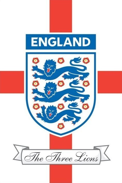 England F.A. - the three lions Affiche