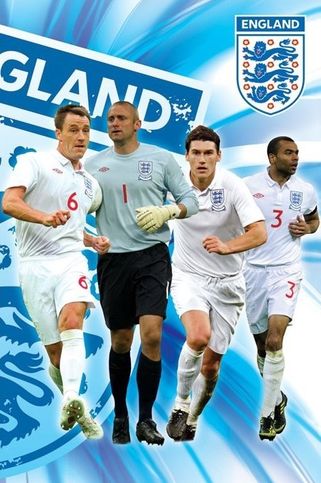 England side 1/2 - terry, green, barry & cole Affiche