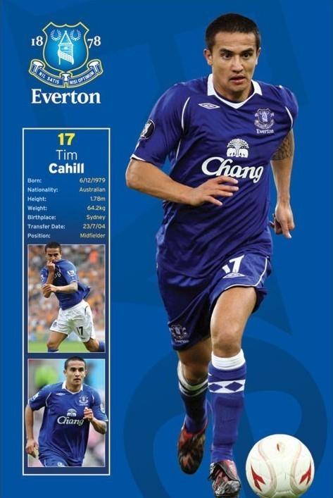 Everton - tim cahill Affiche