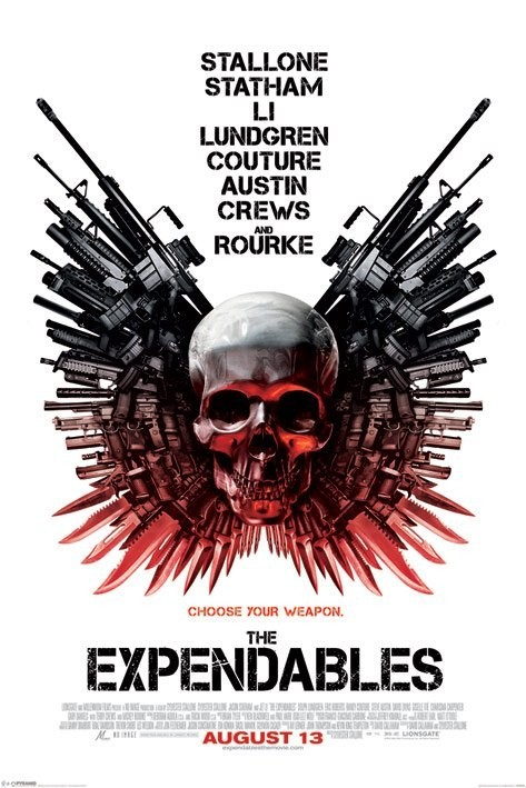 EXPENDABLES - skull one sheet Affiche