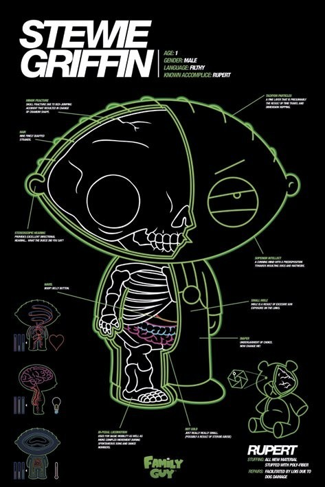 FAMILY GUY - stewie x-ray Affiche