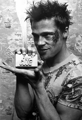 FIGHT CLUB - Brad Pitt / soap Affiche