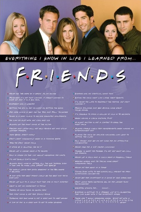 FRIENDS - everything i know Affiche