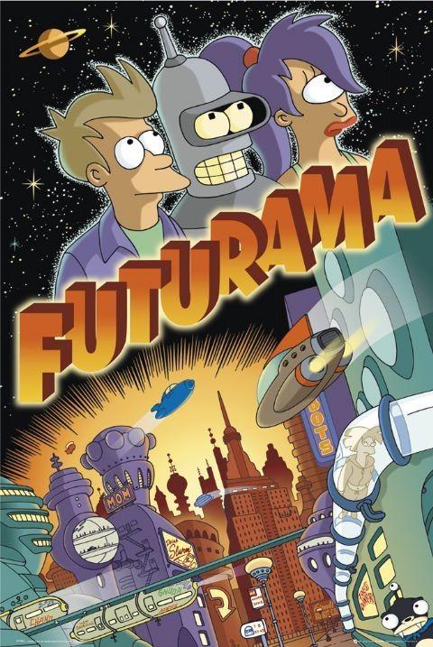 FUTURAMA - trio Affiche