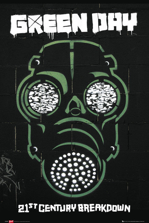 Green Day - gas mask Affiche