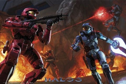 HALO 3 - fight Affiche