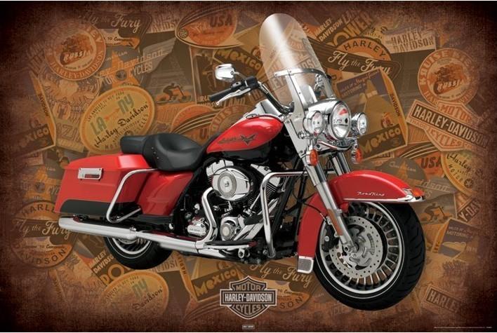 Harley Davidson - road king Affiche