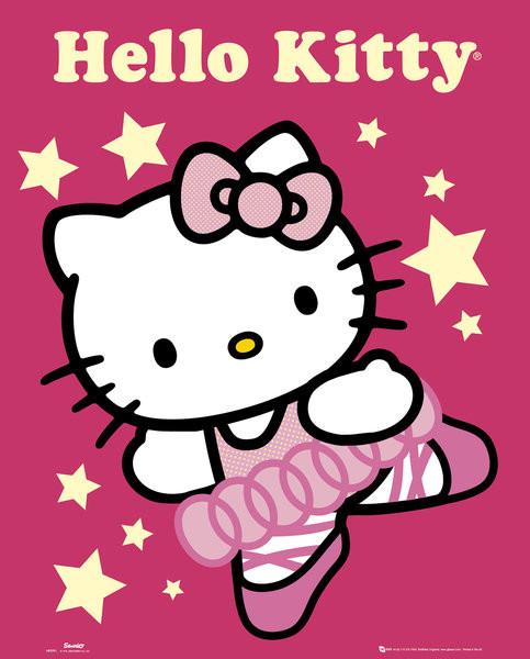 HELLO KITTY - ballerina  Affiche
