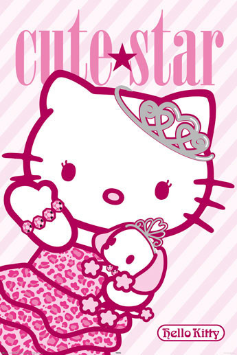 HELLO KITTY - cute star Affiche