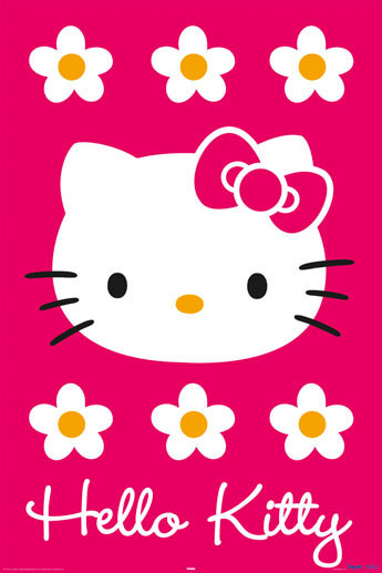 HELLO KITTY - magenta Affiche