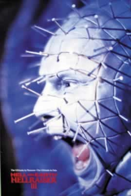 HELLRAISER III - pinhead screaming Affiche