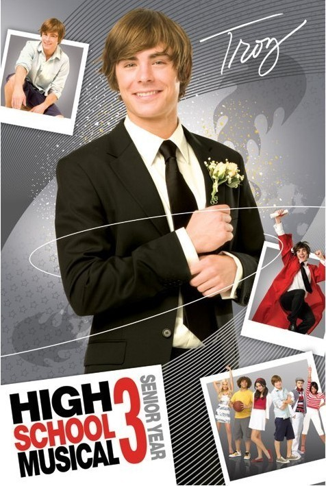 HIGH SCHOOL MUSICAL 3 - troy Affiche
