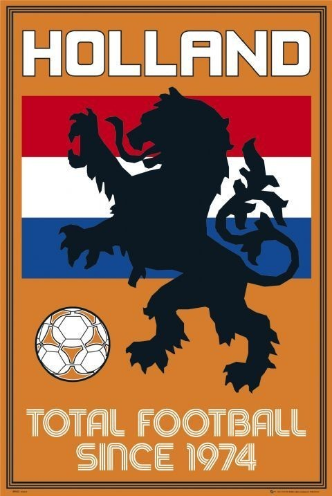 Holland - total football Affiche