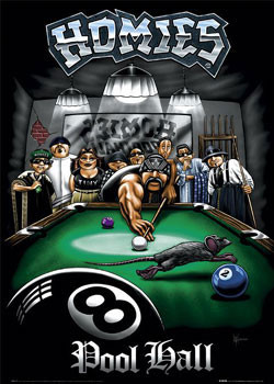 Homies - pool hall Affiche