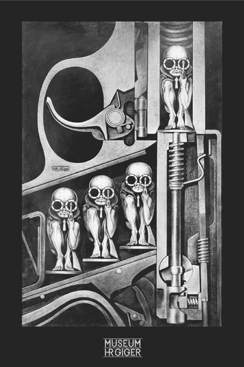 Hr Giger - birthmachine Affiche
