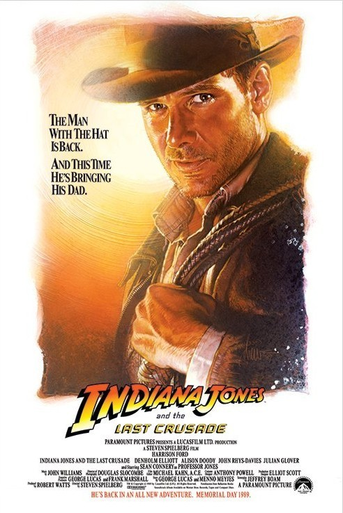 INDIANA JONES - the last crusade one sheet Affiche