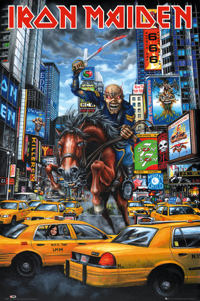 Iron Maiden - new york Affiche