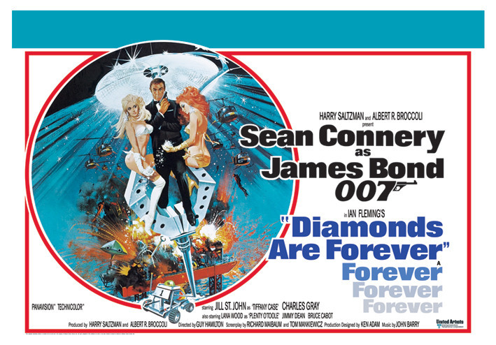 JAMES BOND 007 - diamonds are forever Affiche