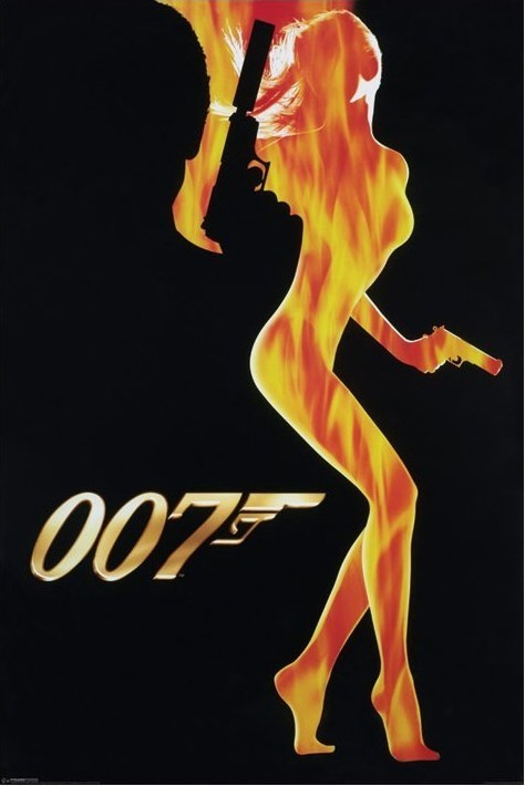 JAMES BOND 007 - flame girl Affiche