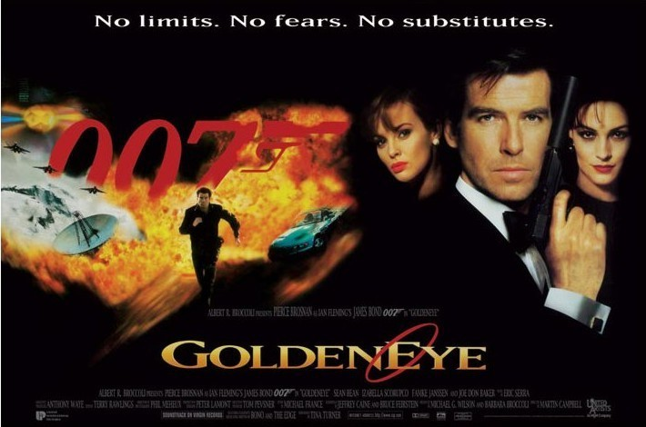 JAMES BOND 007 - goldeneye no limits no fears ... Affiche