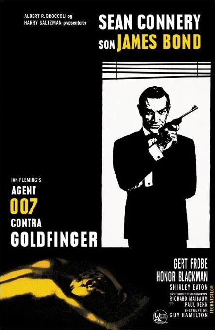 JAMES BOND 007 - goldfinger window Affiche