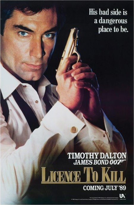 JAMES BOND 007 - licence to kill  Affiche