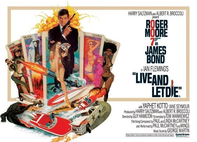 JAMES BOND 007 - live and let die tarot Affiche