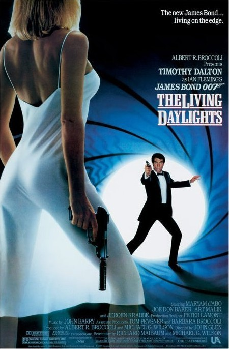 JAMES BOND 007 - the living daylights Affiche