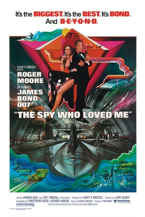 JAMES BOND 007 - the spy who loved me-submarine Affiche