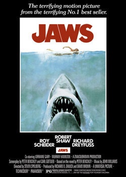 JAWS – movie poster Affiche