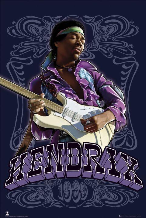 Jimi Hendrix - 1969 Affiche