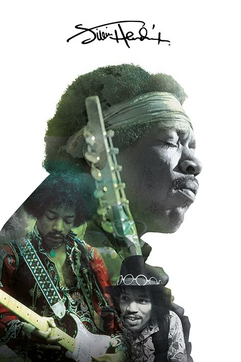 Jimi Hendrix - Double Exposure Affiche