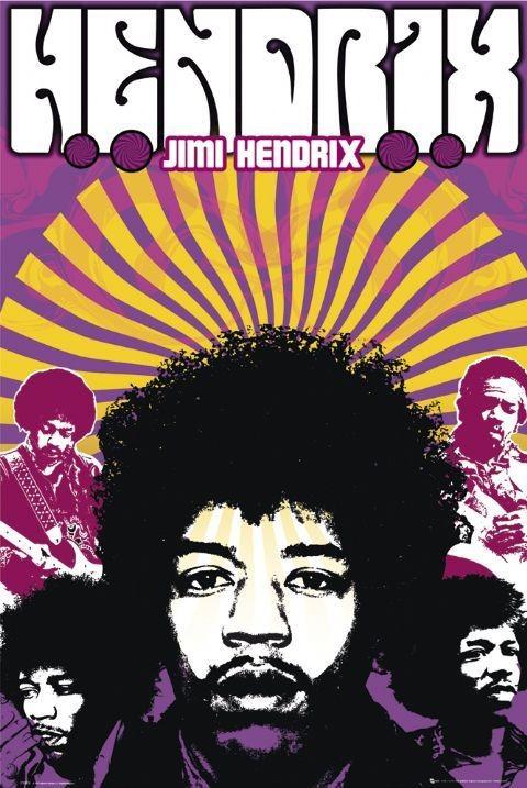 Jimi Hendrix - legend Affiche