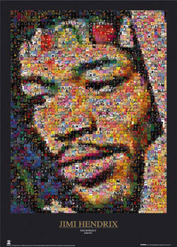 Jimi Hendrix - mozaika Affiche