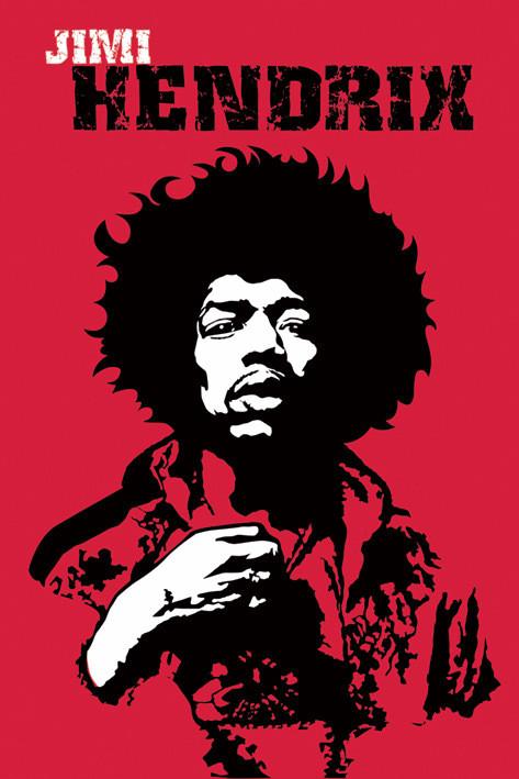 Jimi Hendrix - revolution Affiche