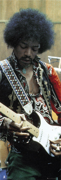 Jimi Hendrix - studio Affiche