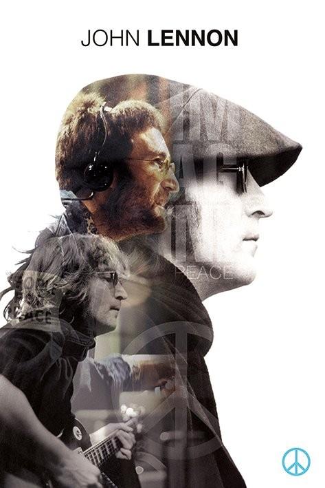 John Lennon - Double Exposure Affiche