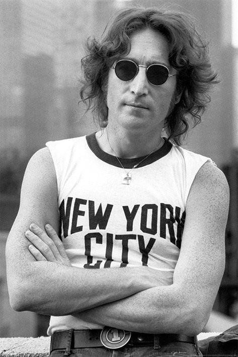 John Lennon - nyc bob gruen Affiche