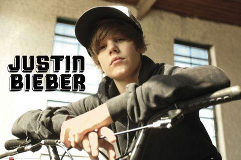 Justin Bieber - bike Affiche